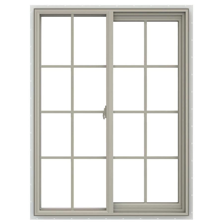 JELD-WEN V-2500 Right-Operable Vinyl Double Pane Annealed Sliding Window (Rough Opening: 36-in x 48-in; Actual: 35.5-in x 47.5-in)