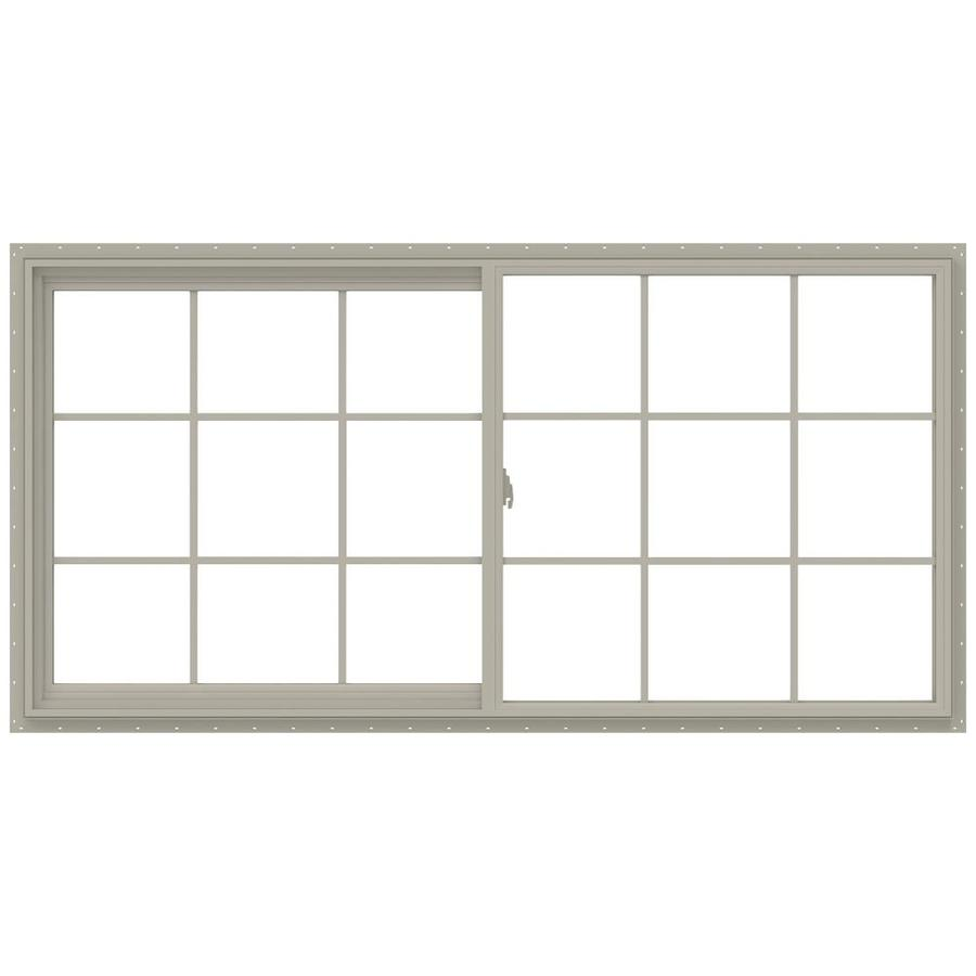 JELD-WEN V-2500 Left-operable Vinyl Double Pane Annealed New Construction Sliding Window (Rough Opening: 72-in x 36-in; Actual: 71.5-in x 35.5-in)