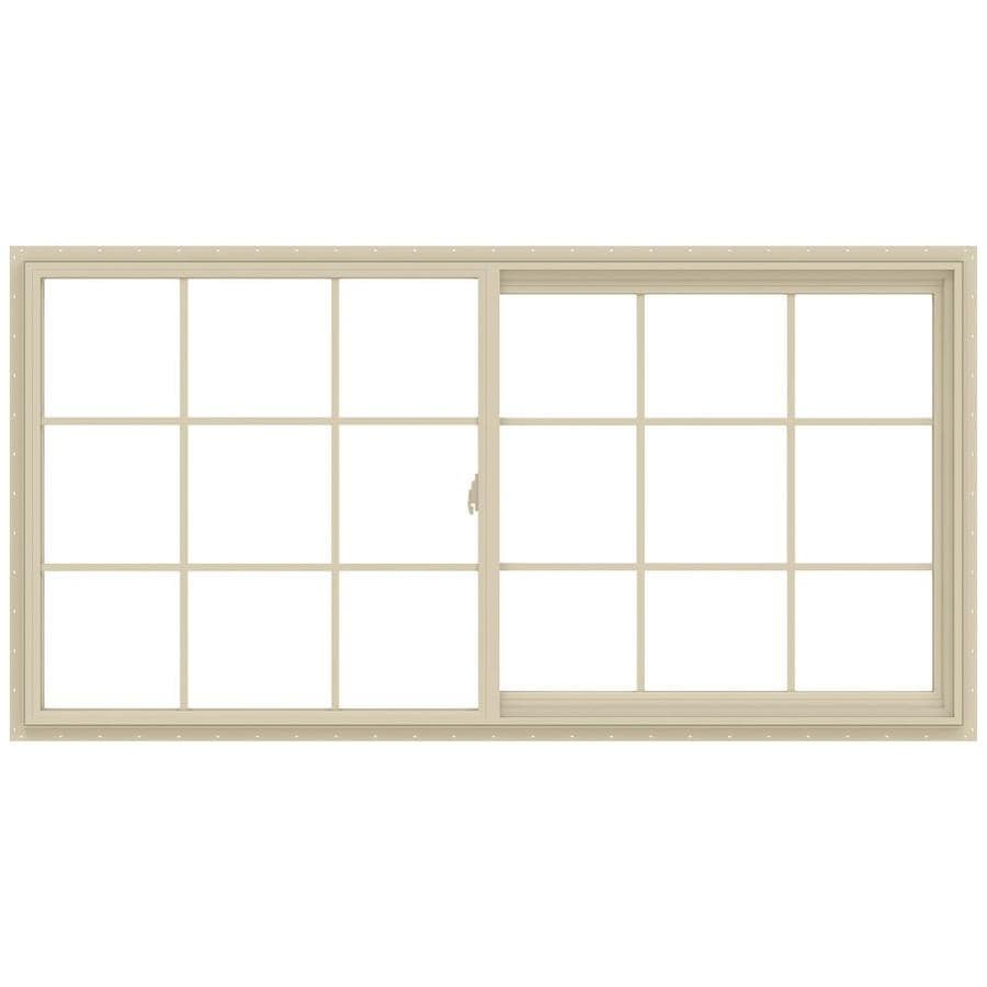 JELD-WEN V-2500 Right-Operable Vinyl Double Pane Annealed Sliding Window (Rough Opening: 72-in x 36-in; Actual: 71.5-in x 35.5-in)