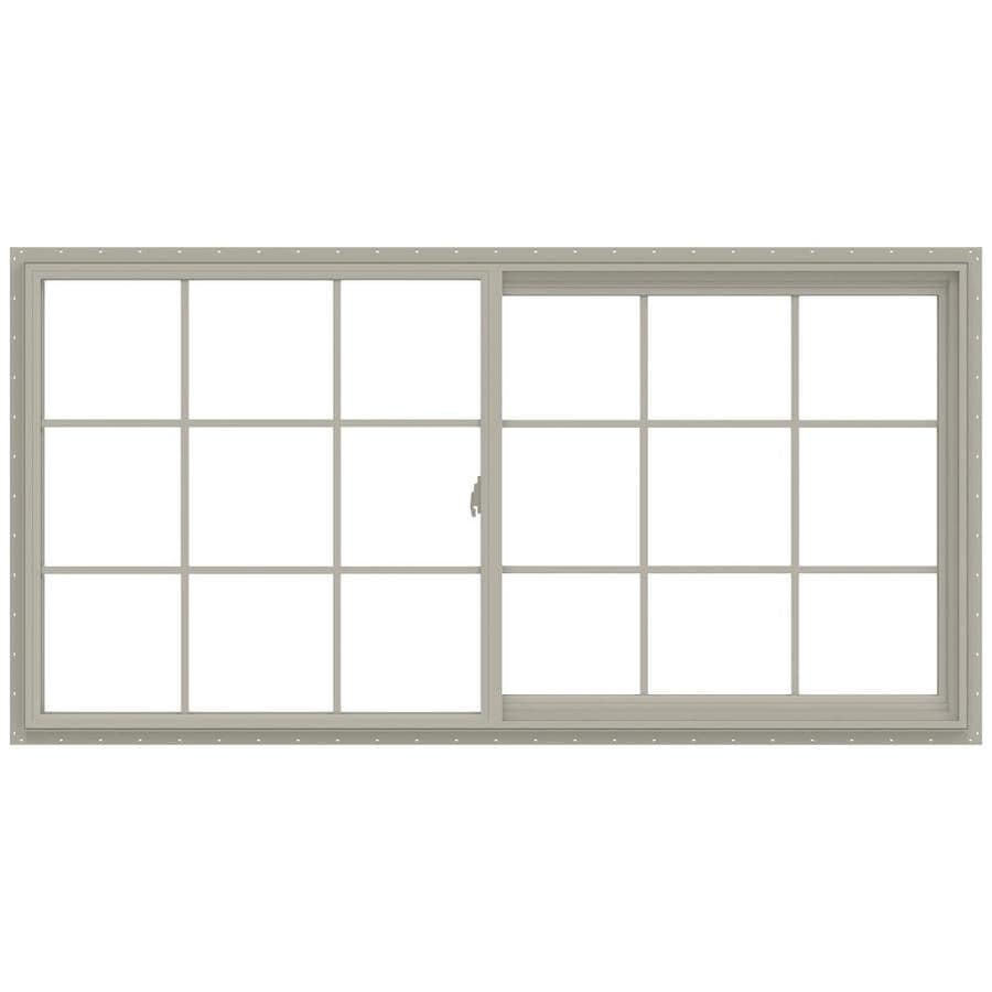 JELD-WEN V-2500 Right-operable Vinyl Double Pane Annealed New Construction Sliding Window (Rough Opening: 72-in x 36-in; Actual: 71.5-in x 35.5-in)