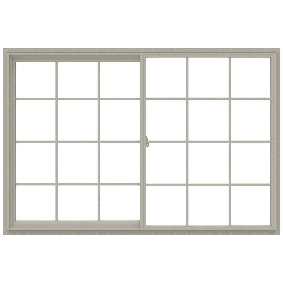 JELD-WEN V-2500 Left-operable Vinyl Double Pane Annealed New Construction Sliding Window (Rough Opening: 72-in x 48-in; Actual: 71.5-in x 47.5-in)