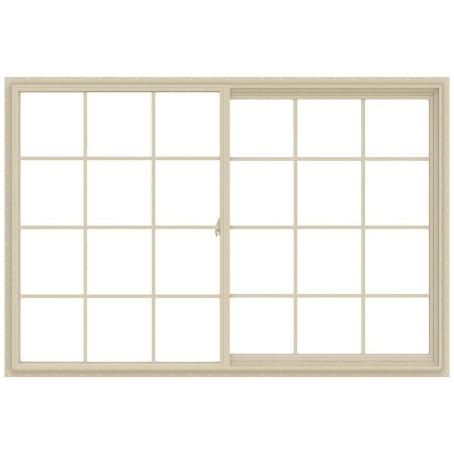 JELD-WEN V-2500 Right-operable Vinyl Double Pane Annealed New Construction Sliding Window (Rough Opening: 72-in x 48-in; Actual: 71.5-in x 47.5-in)
