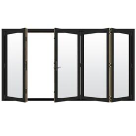 JELD WEN Folding Chestnut Bronze Clad Wood Folding Solid Core Patio Door  (Common