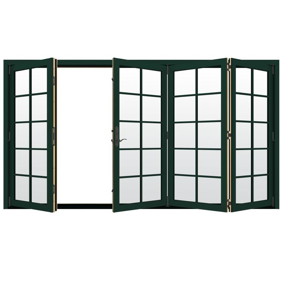 Shop jeld wen w 4500 10 lite glass hartford for Fold out patio doors