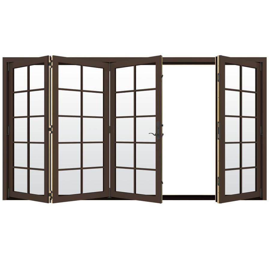 JELD-WEN W-4500 124.1875-in x 80.375-in Left-Hand Outswing Folding Patio Door