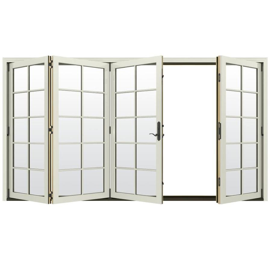 Shop jeld wen w 4500 10 lite glass french for Wood french patio doors