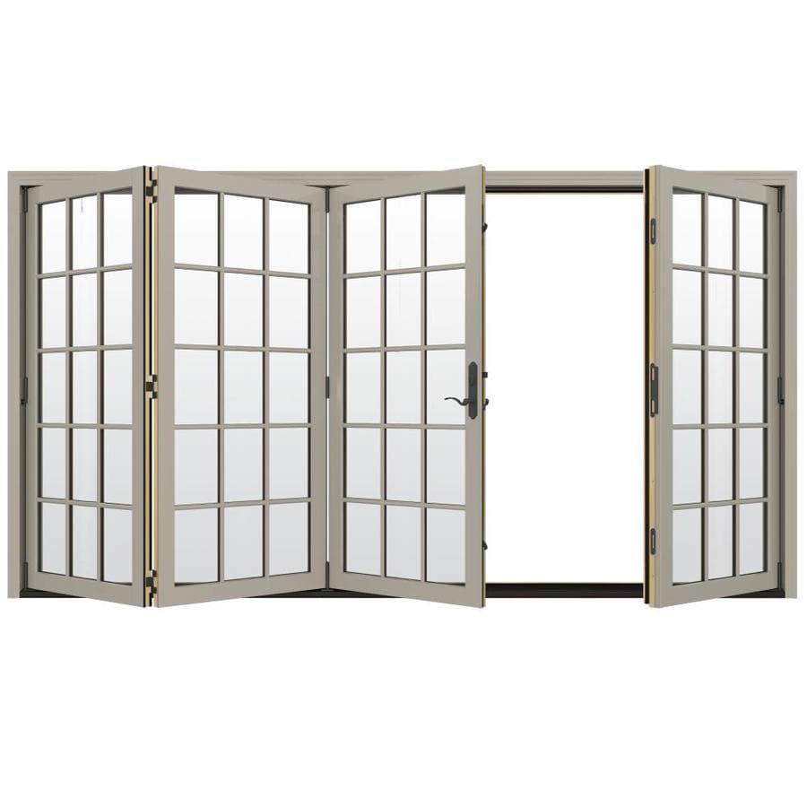 JELD-WEN W-4500 124.1875-in x 96.375-in Left-Hand Outswing Folding Patio Door