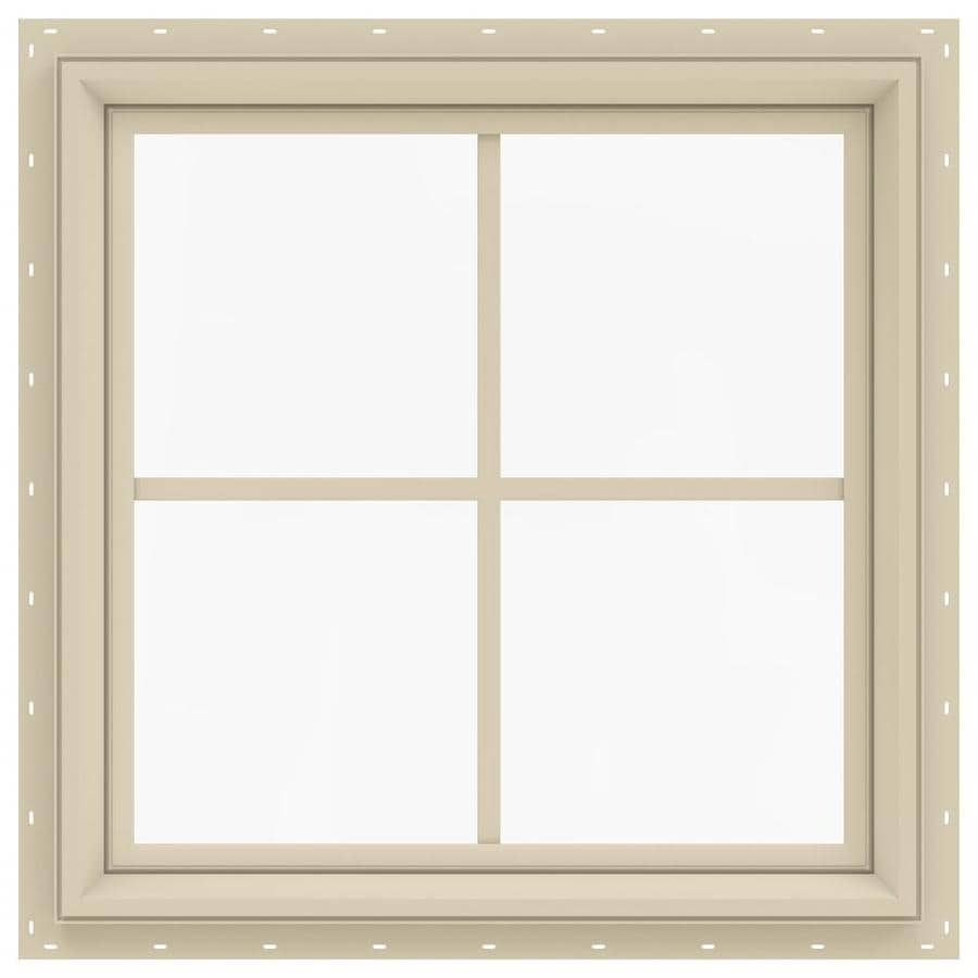 JELD-WEN V-2500 Square New Construction Window (Rough Opening: 24.0-in x 24.0-in; Actual: 23.5-in x 23.5-in)