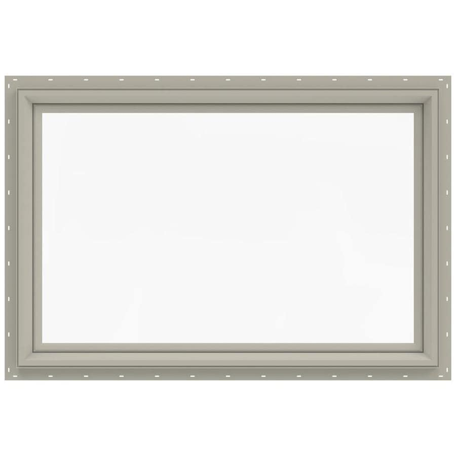 JELD-WEN V-2500 Rectangle New Construction Window (Rough Opening: 36.0-in x 24.0-in; Actual: 35.5-in x 23.5-in)