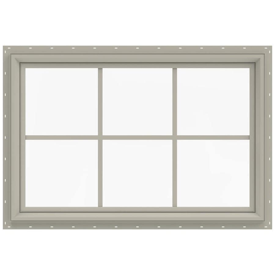 JELD-WEN V-2500 Rectangle New Construction Window (Rough Opening: 36-in x 24-in; Actual: 35.5-in x 23.5-in)