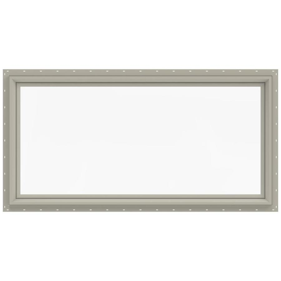 JELD-WEN V-2500 Rectangle New Construction Window (Rough Opening: 48-in x 24-in; Actual: 47.5-in x 23.5-in)