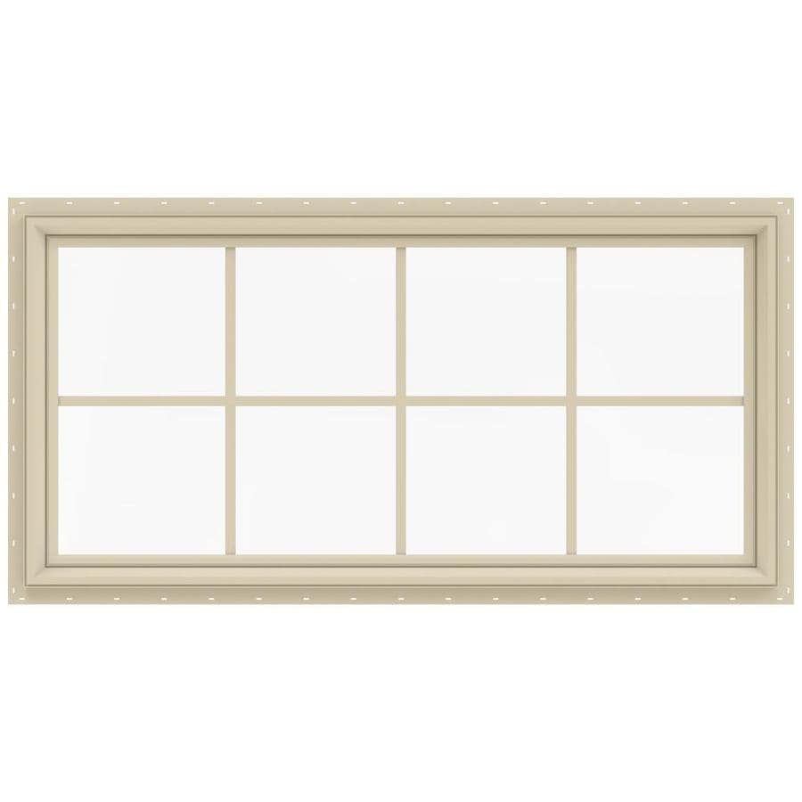 JELD-WEN V-2500 Rectangle New Construction Window (Rough Opening: 48.0-in x 24.0-in; Actual: 47.5-in x 23.5-in)