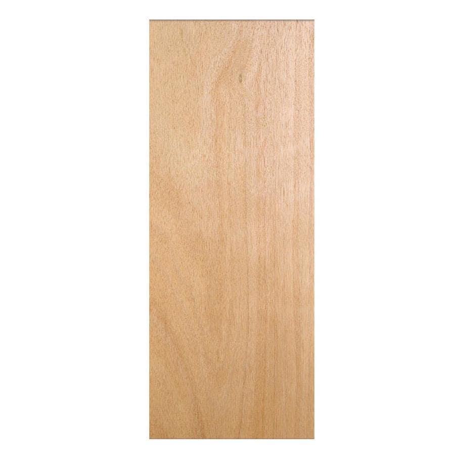 JELD-WEN Flush Hollow Core Veneer Lauan Slab Interior Door (Common: 32-in x 80-in; Actual: 32-in x 80-in)