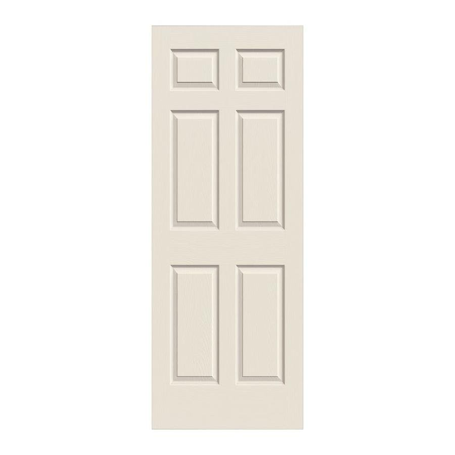 Beautiful ReliaBilt Colonist Primed 6 Panel Hollow Core Molded Composite Slab Door  (Common: 30