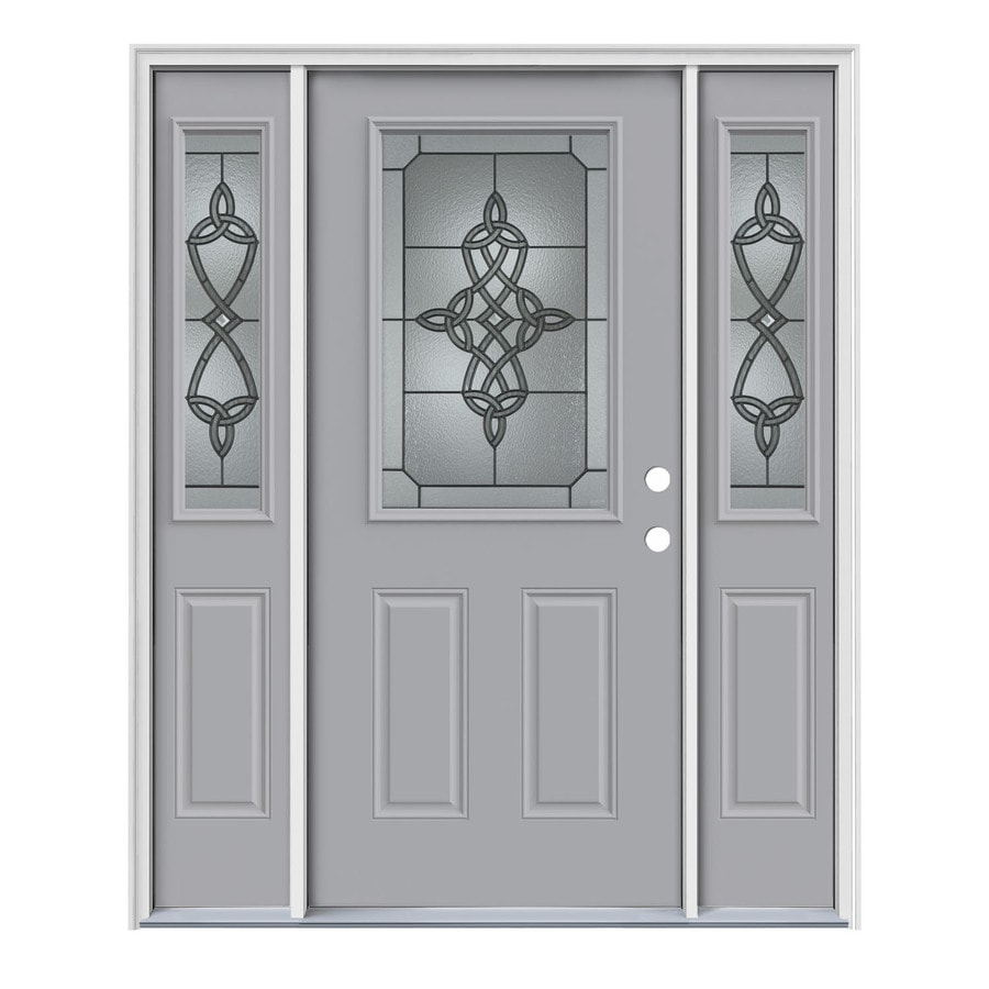 Decorative Steel Doors : Shop jeld wen dylan decorative glass left hand inswing