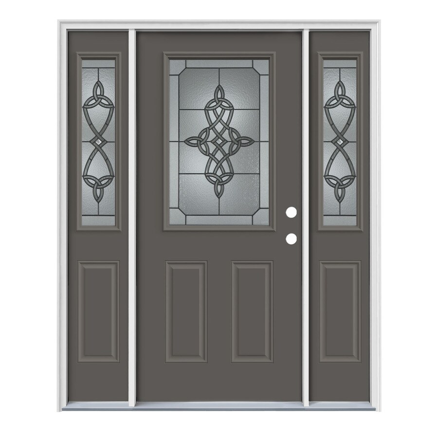 Jeld wen dylan half lite decorative glass left hand - Jeld wen exterior doors with sidelights ...