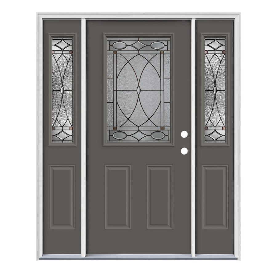 Decorative Metal Entry Doors : Shop jeld wen hutton decorative glass left hand inswing