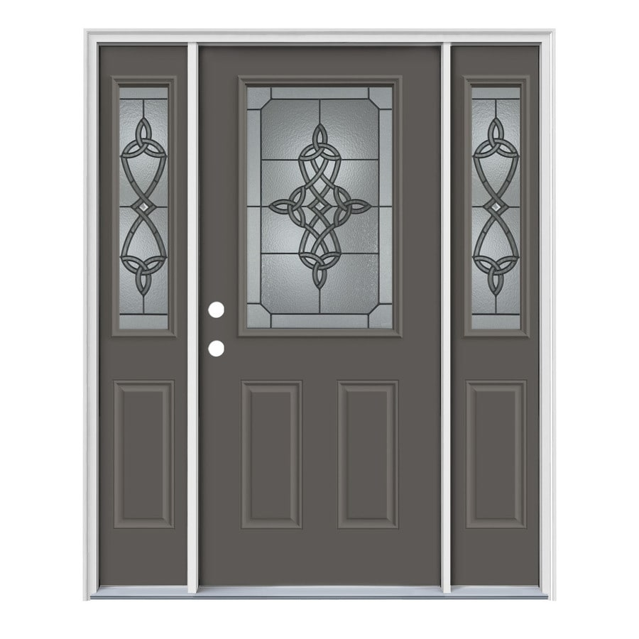 Decorative Metal Entry Doors : Shop jeld wen dylan decorative glass right hand inswing