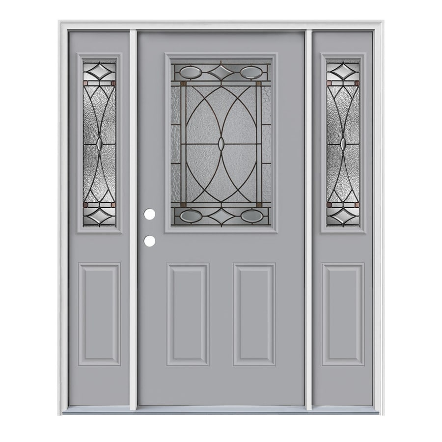 Decorative Steel Doors : Shop jeld wen hutton decorative glass right hand inswing