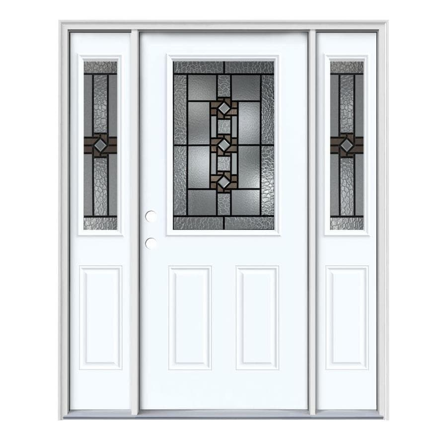 Jeld wen sonora half lite decorative glass right hand - Jeld wen exterior doors with sidelights ...