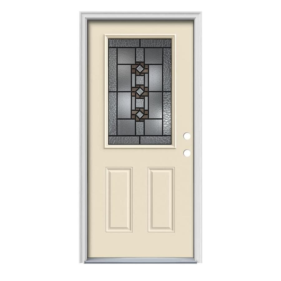 Shop jeld wen sonora 2 panel insulating core half lite for Jeld wen exterior doors
