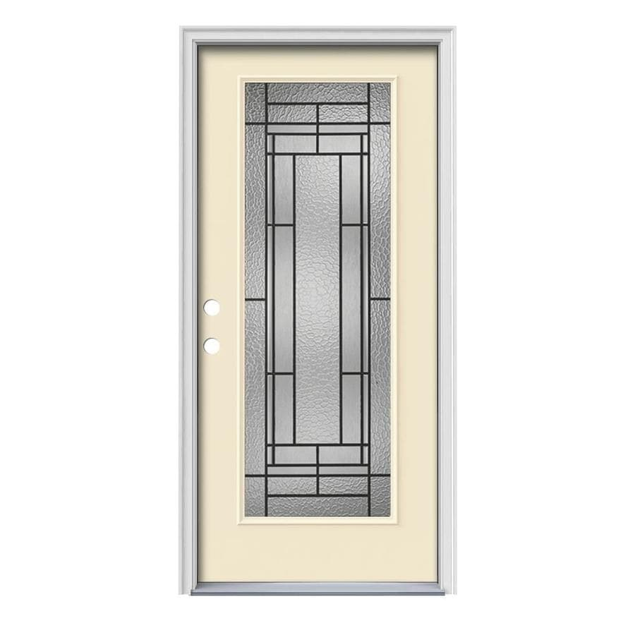 Decorative Metal Entry Doors : Shop jeld wen pembrook decorative glass right hand inswing