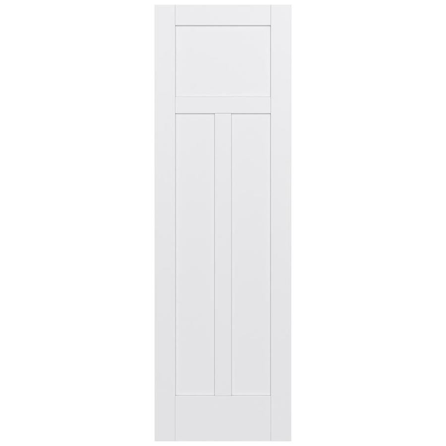 JELD-WEN MODA Primed Solid Core MDF Pine Slab Interior Door (Common: 24-in x 96-in; Actual: 24-in x 96-in)