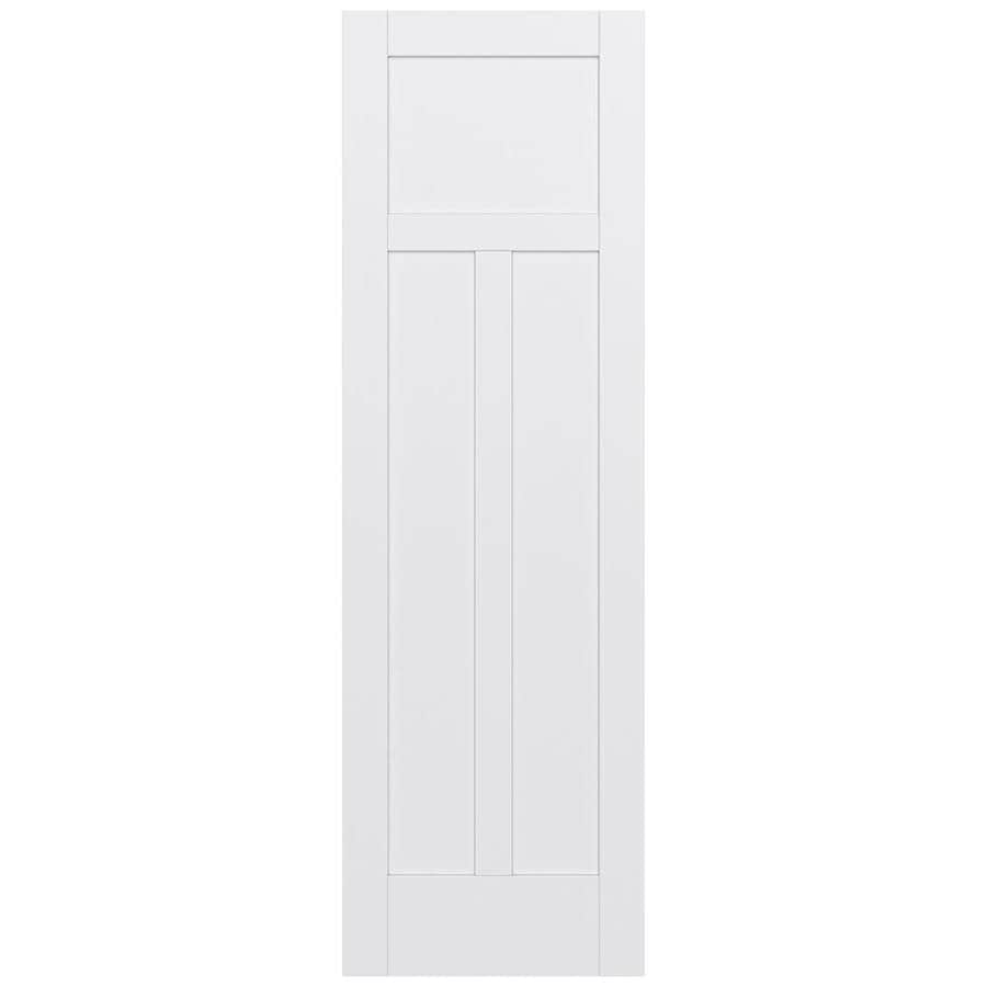 JELD-WEN MODA Primed Solid Core MDF Pine Slab Interior Door (Common: 30-in x 96-in; Actual: 30-in x 96-in)