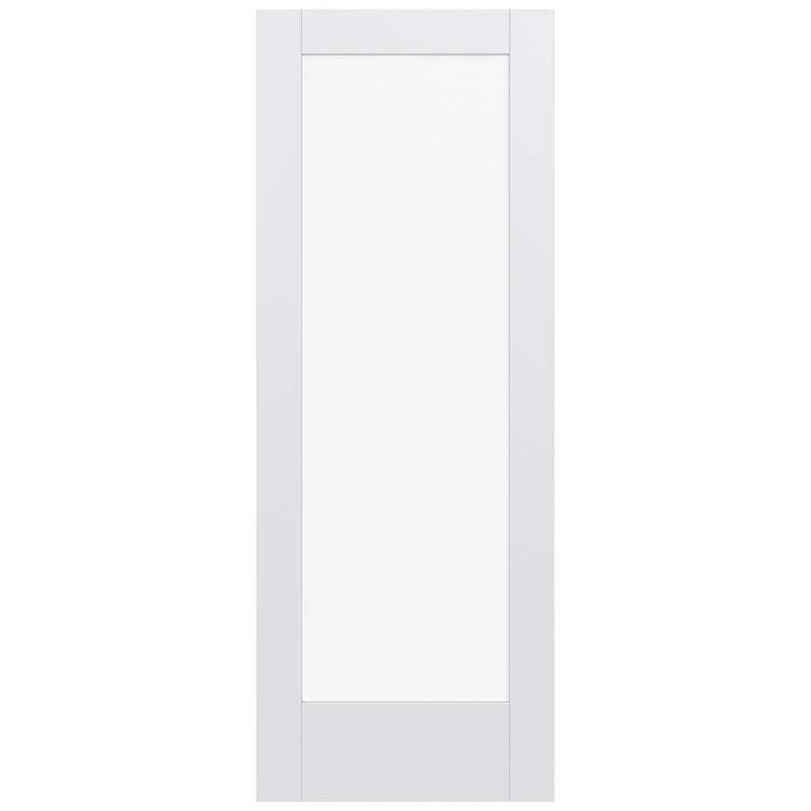 JELD-WEN Moda Solid Core 1-Lite Clear Glass Slab Interior Door (Common: 30-in x 80-in; Actual: 80-in x 80-in)