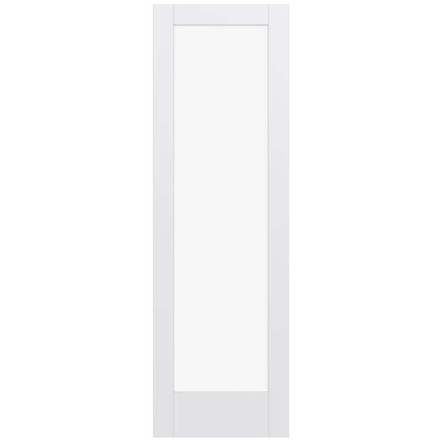 JELD-WEN Moda Solid Core 1-Lite Clear Glass Slab Interior Door (Common: 30-in x 96-in; Actual: 96-in x 96-in)