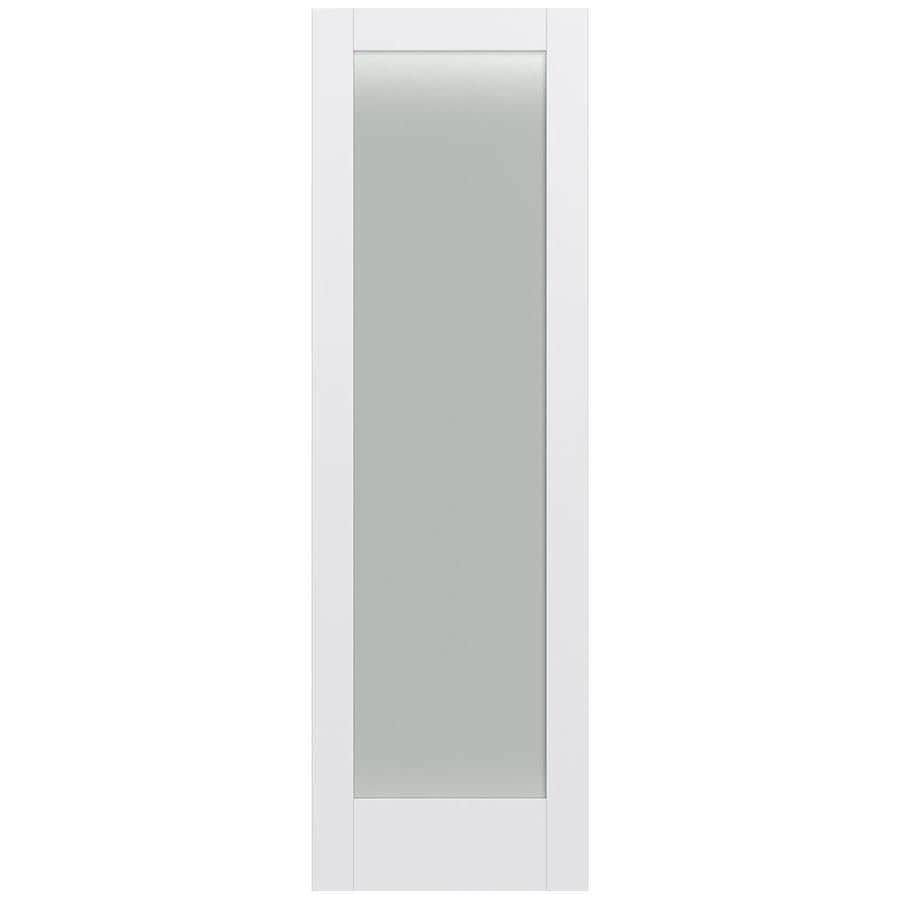 JELD-WEN Moda Solid Core 1-Lite Frosted Glass Slab Interior Door (Common: 30-in x 96-in; Actual: 30-in x 96-in)