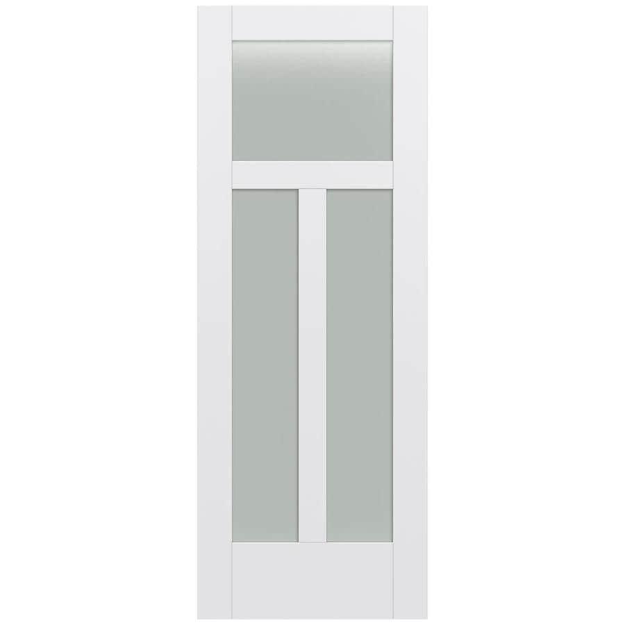 JELD-WEN MODA Primed Frosted Glass Slab Interior Door (Common: 24-in x 80-in; Actual: 24-in x 80-in)