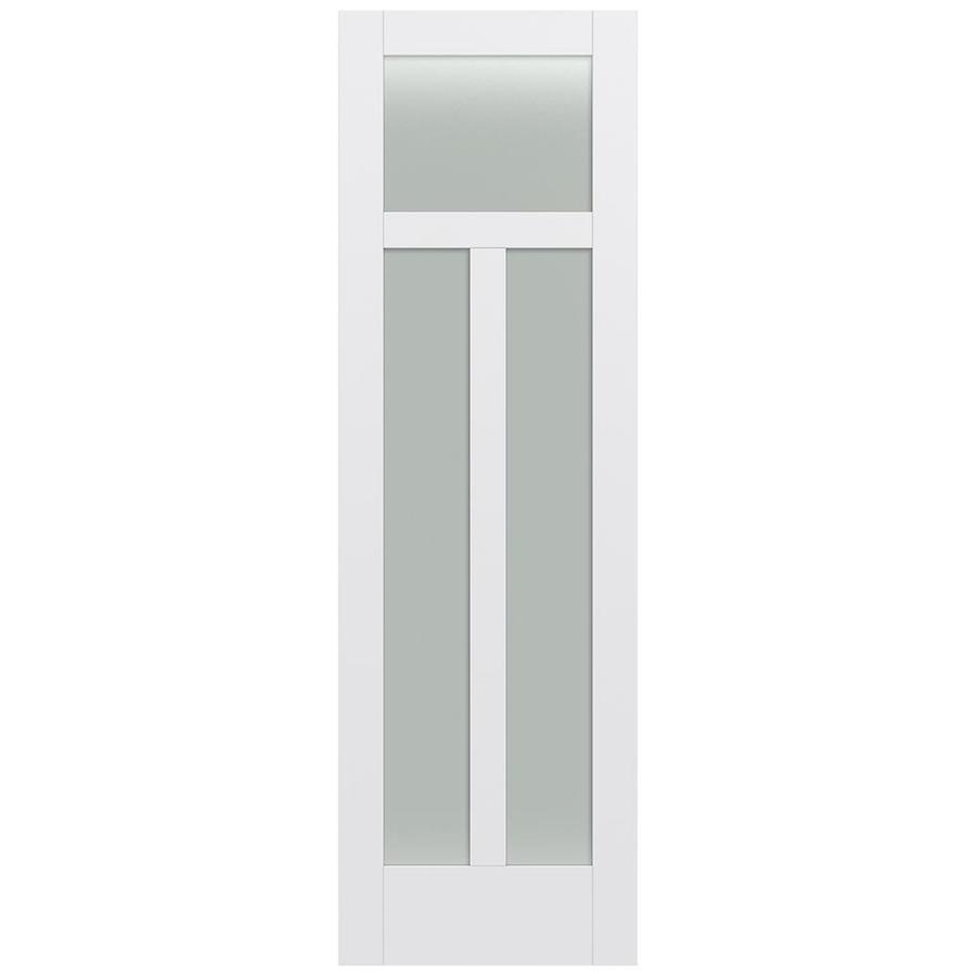 JELD-WEN Moda Solid Core 3-Lite Frosted Glass Slab Interior Door (Common: 24-in x 96-in; Actual: 24-in x 96-in)