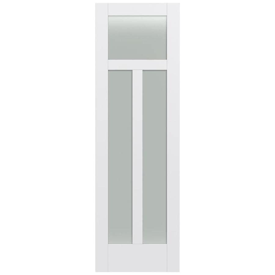JELD-WEN MODA Primed Frosted Glass Slab Interior Door (Common: 32-in x 96-in; Actual: 32-in x 96-in)