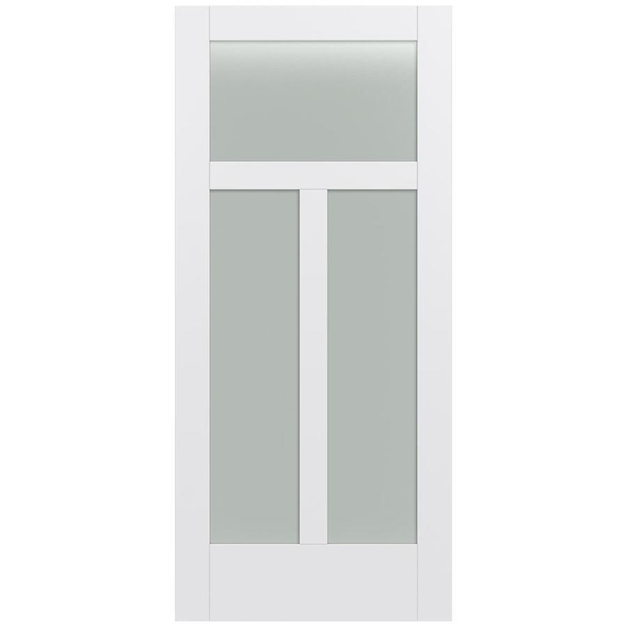 JELD-WEN Moda Solid Core 3-Lite Frosted Glass Slab Interior Door (Common: 36-in x 80-in; Actual: 36-in x 80-in)