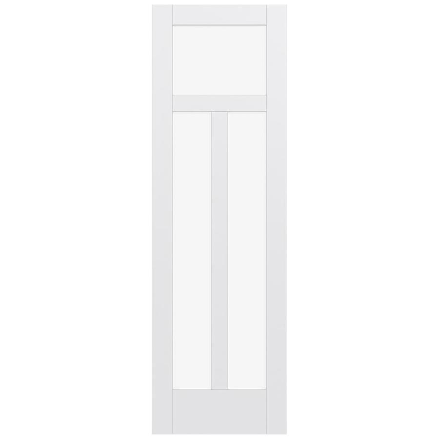 JELD-WEN MODA Primed Clear Glass Slab Interior Door (Common: 28-in x 96-in; Actual: 96-in x 96-in)
