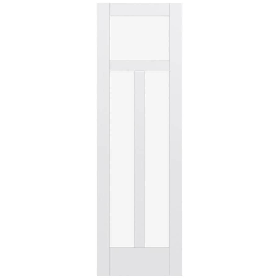 JELD-WEN Moda Solid Core 3-Lite Clear Glass Slab Interior Door (Common: 32-in x 96-in; Actual: 96-in x 96-in)