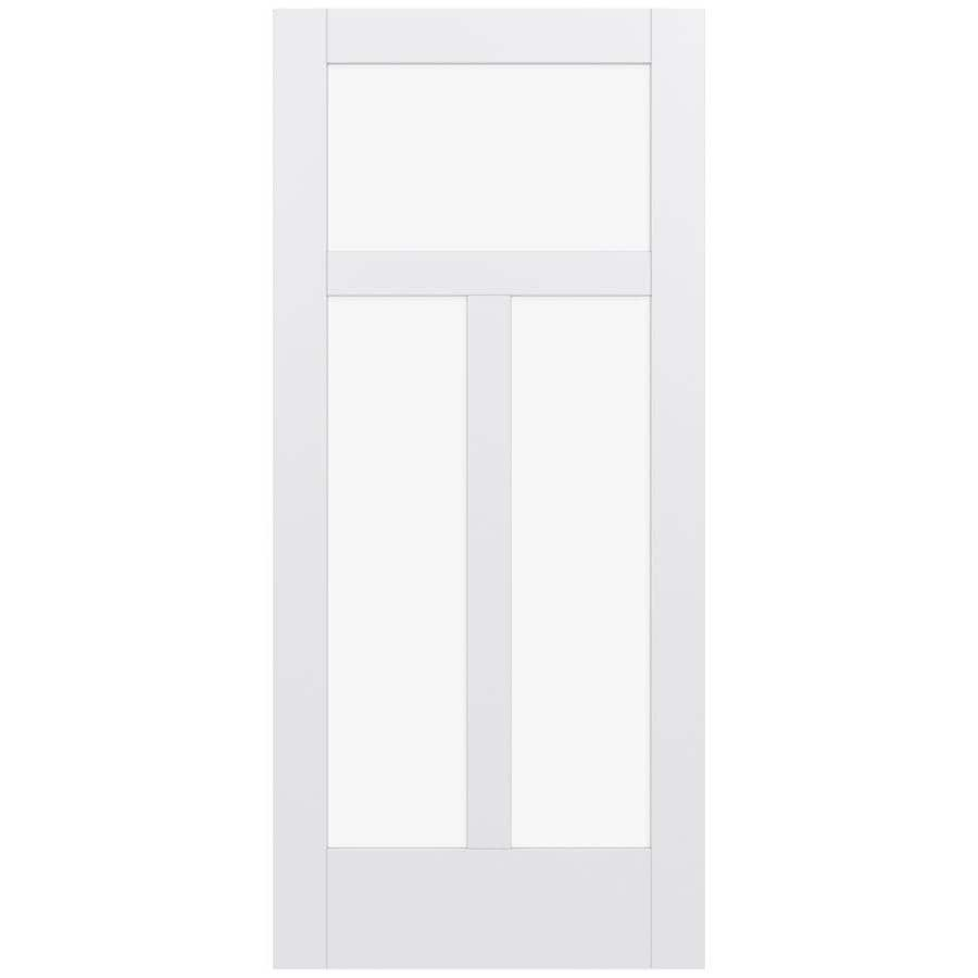 JELD-WEN Moda Solid Core 3-Lite Clear Glass Slab Interior Door (Common: 36-in x 80-in; Actual: 80-in x 80-in)