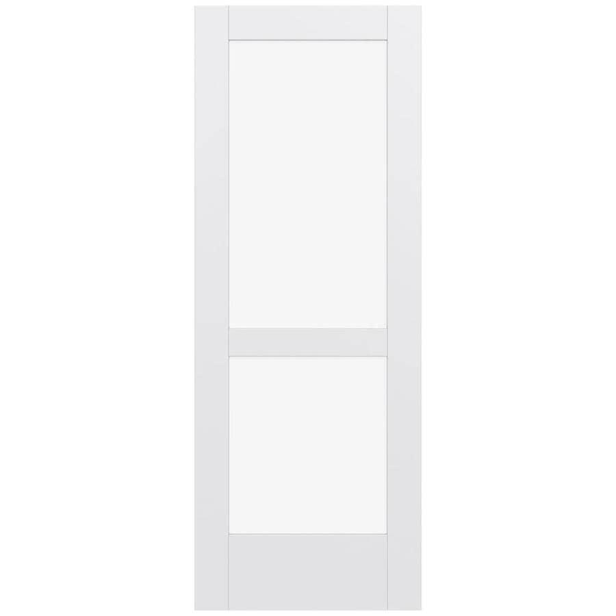 JELD-WEN MODA Primed Clear Glass Slab Interior Door (Common: 24-in x 80-in; Actual: 80-in x 80-in)