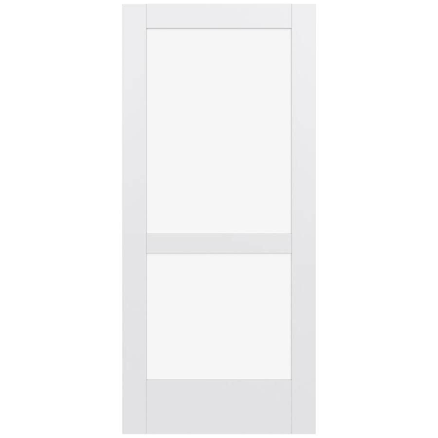 Shop Jeld Wen Moda Primed Clear Glass Slab Interior Door Common 36 In X 80 In Actual 80 In X