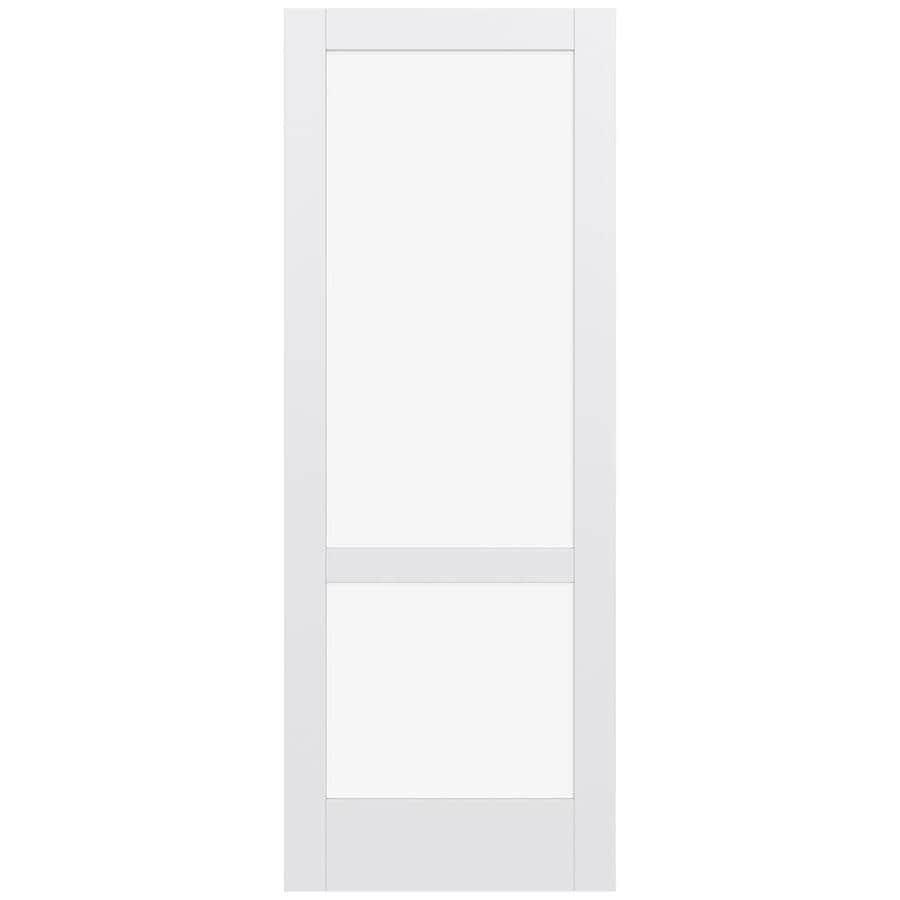 JELD-WEN MODA Primed Clear Glass Slab Interior Door (Common: 36-in x 96-in; Actual: 96-in x 96-in)