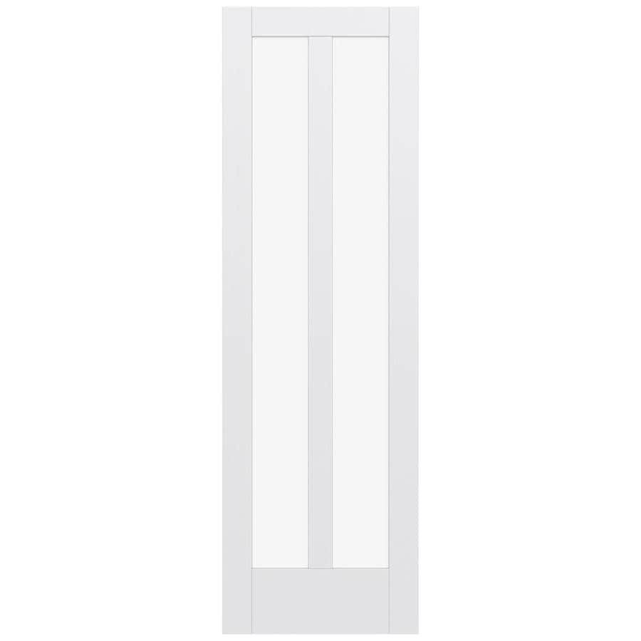 JELD-WEN MODA 2-lite Clear Glass Pine Slab Interior Door (Common: 24-in X 96-in; Actual: 24-in x 96-in)