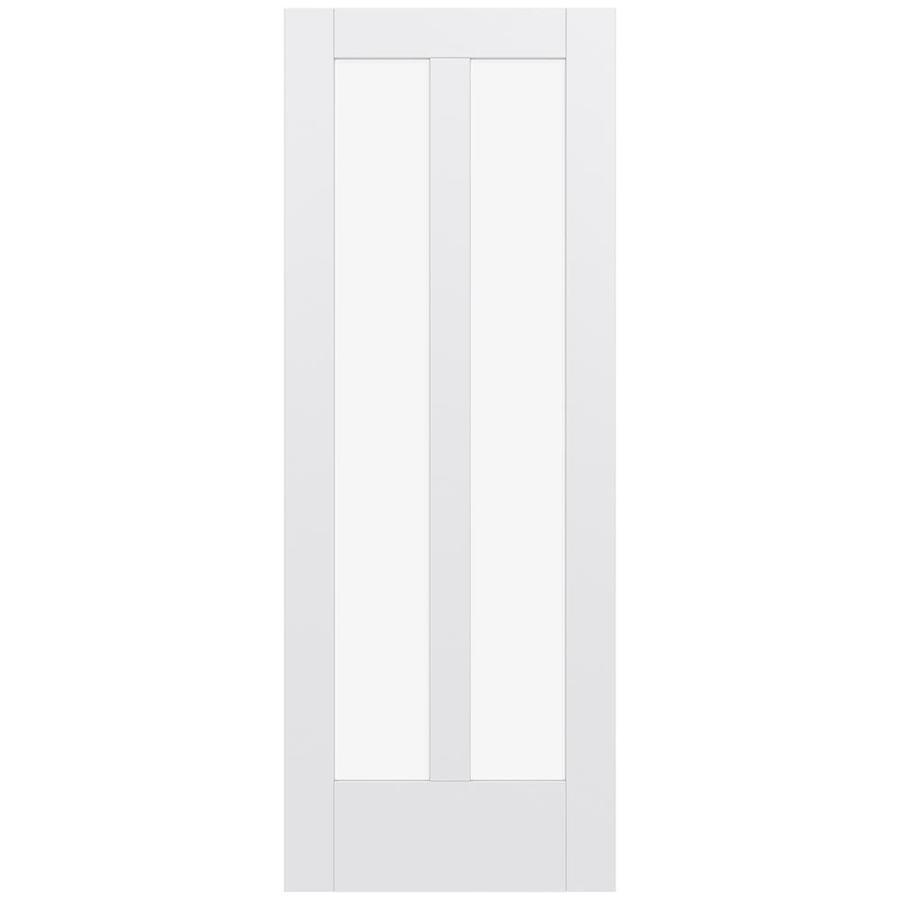 JELD-WEN Moda Solid Core 2-Lite Clear Glass Slab Interior Door (Common: 30-in x 80-in; Actual: 80-in x 80-in)
