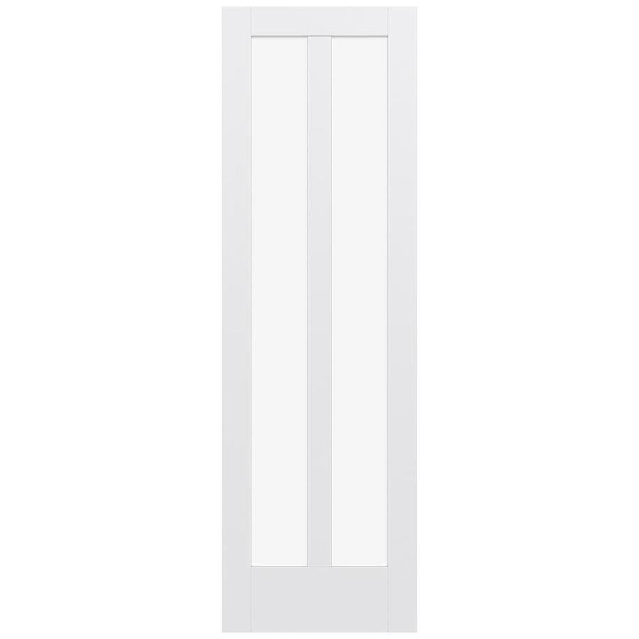 JELD-WEN MODA 2-lite Clear Glass Pine Slab Interior Door (Common: 30-in X 96-in; Actual: 30-in x 96-in)