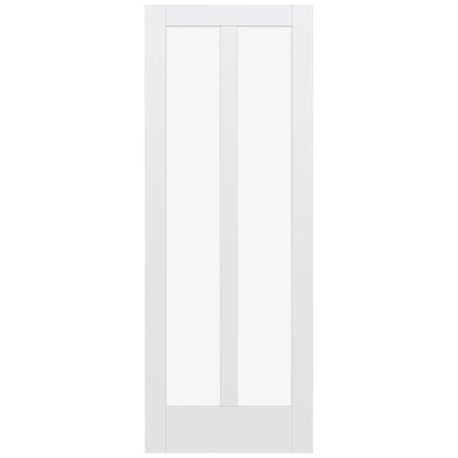 JELD-WEN MODA 2-lite Clear Glass Pine Slab Interior Door (Common: 36-in X 96-in; Actual: 36-in x 96-in)