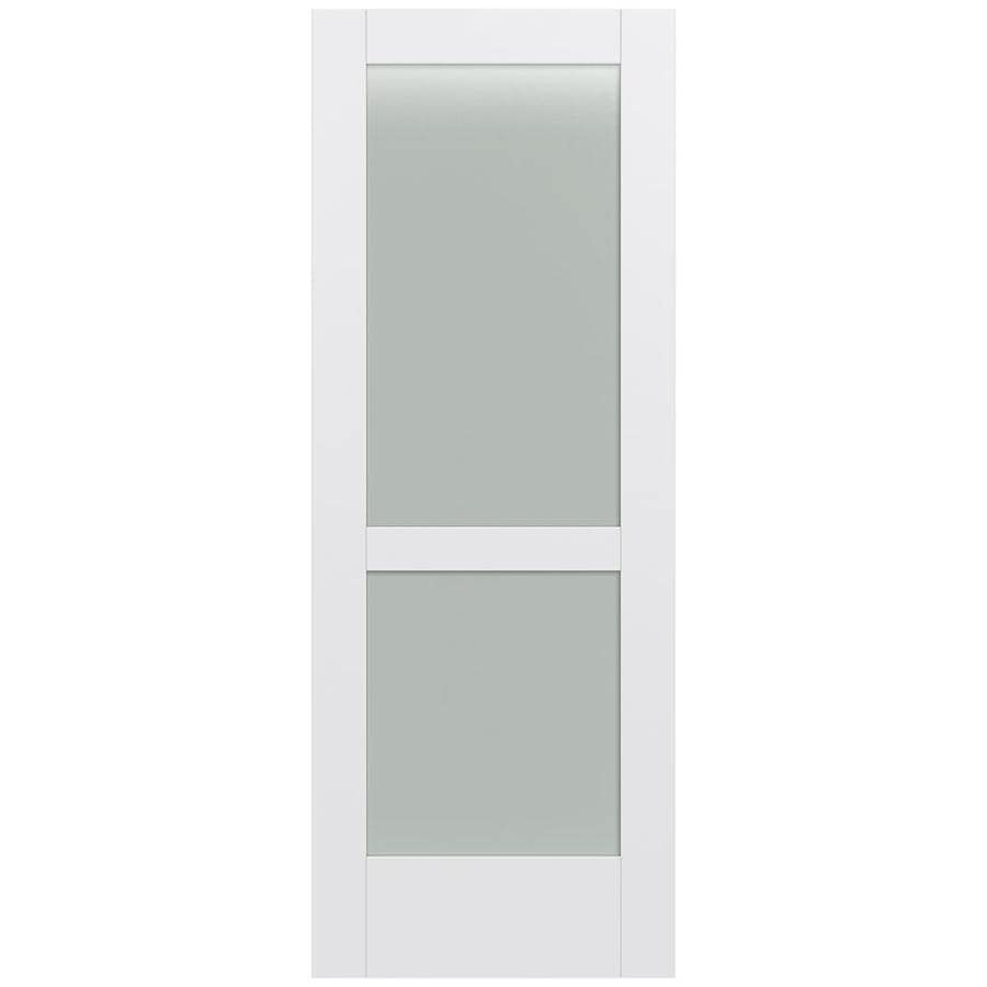JELD-WEN MODA Primed Frosted Glass Slab Interior Door (Common: 28-in x 80-in; Actual: 28-in x 80-in)