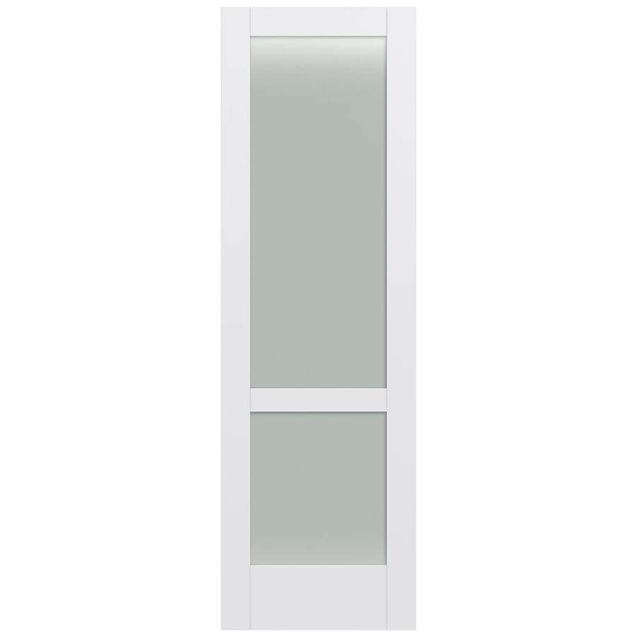 JELD-WEN MODA Primed Frosted Glass Slab Interior Door (Common: 30-in x 96-in; Actual: 30-in x 96-in)