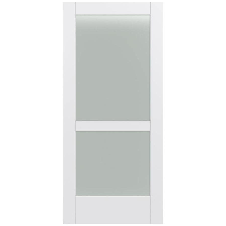 JELD-WEN Moda Solid Core 2-Lite Frosted Glass Slab Interior Door (Common: 36-in x 80-in; Actual: 36-in x 80-in)