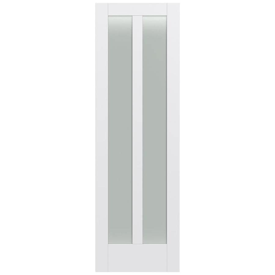 JELD-WEN MODA Primed Frosted Glass Slab Interior Door (Common: 28-in x 96-in; Actual: 28-in x 96-in)