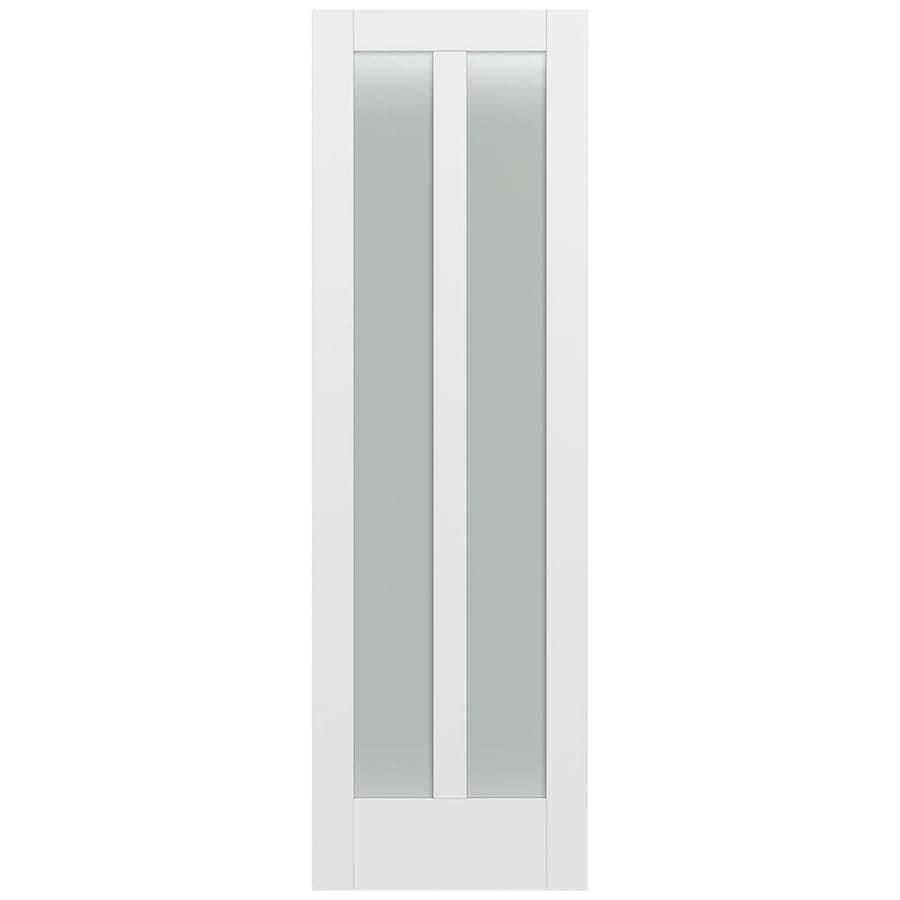 JELD-WEN Moda Solid Core 2-Lite Frosted Glass Slab Interior Door (Common: 30-in x 96-in; Actual: 30-in x 96-in)